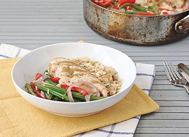 One-Pot Honey Mustard Chicken Rice Skillet