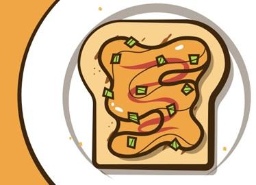 Pack-& Go-Peanut Butter & Sriracha Toast