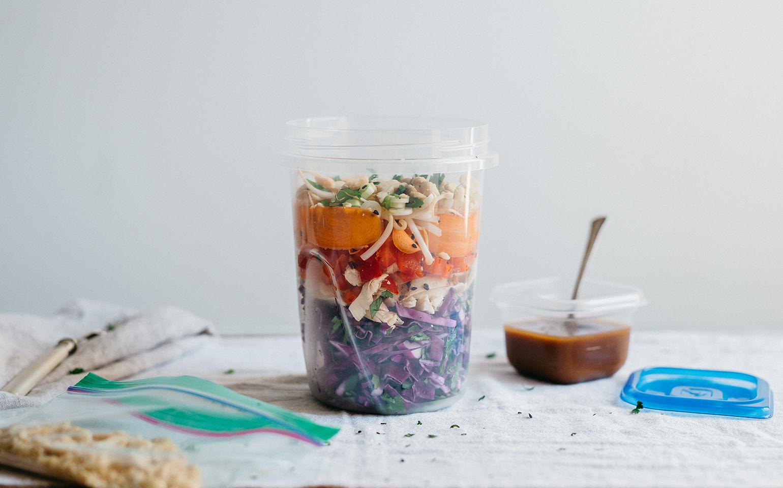 Pad Thai Salad with Peanut Sesame Dressing
