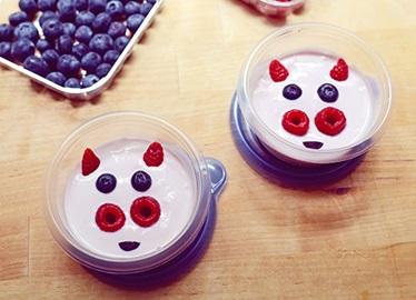 Envases de yogurt con forma de cerdito