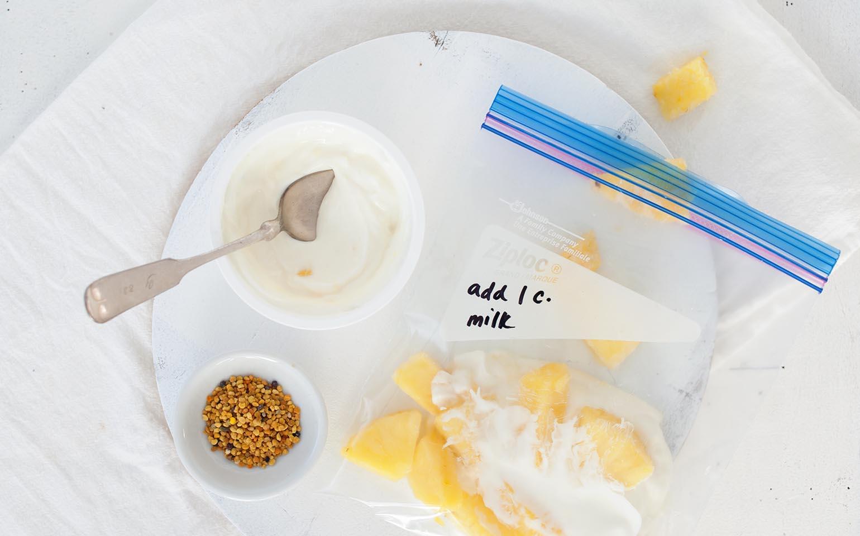 Pineapple Greek Yogurt Smoothie Snack