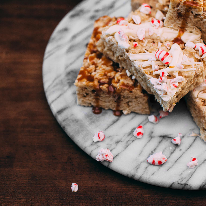 Collations de céréales à la guimauve avec vanille et épices pour tarte à la citrouille