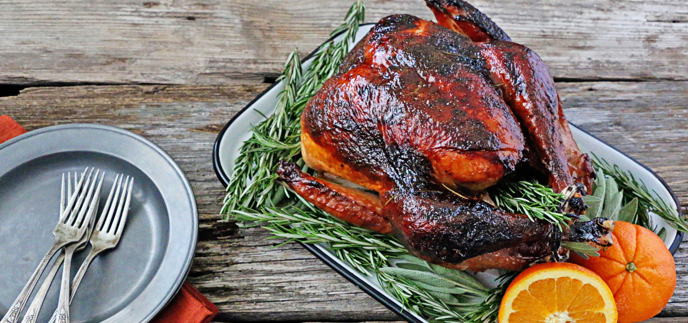 Roasted Turkey With Orange Rosemary Glaze