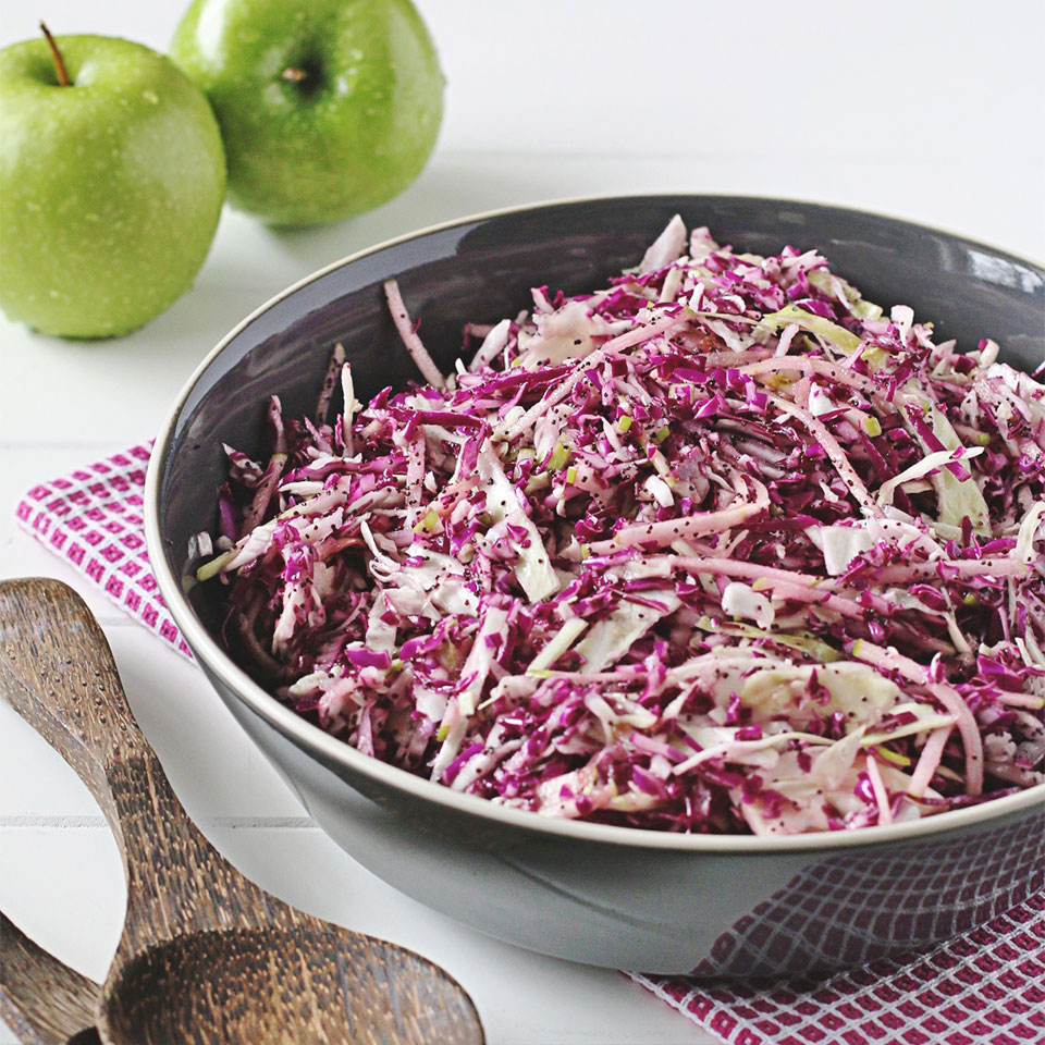 Shake-In-A-Bag Coleslaw with Sweet Poppy Seed Dressing