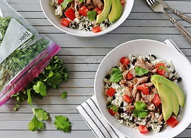 Shredded Pork Burrito Bowls