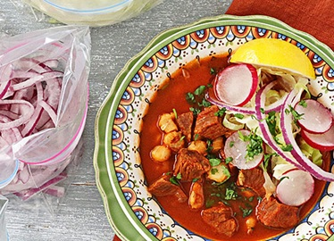 Slow Cooker Beef Pozole