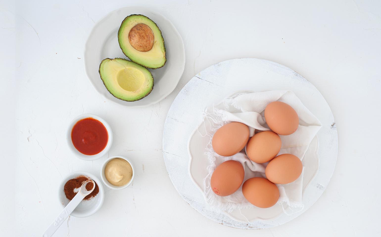 Spicy Avocado & Deviled Egg Dip