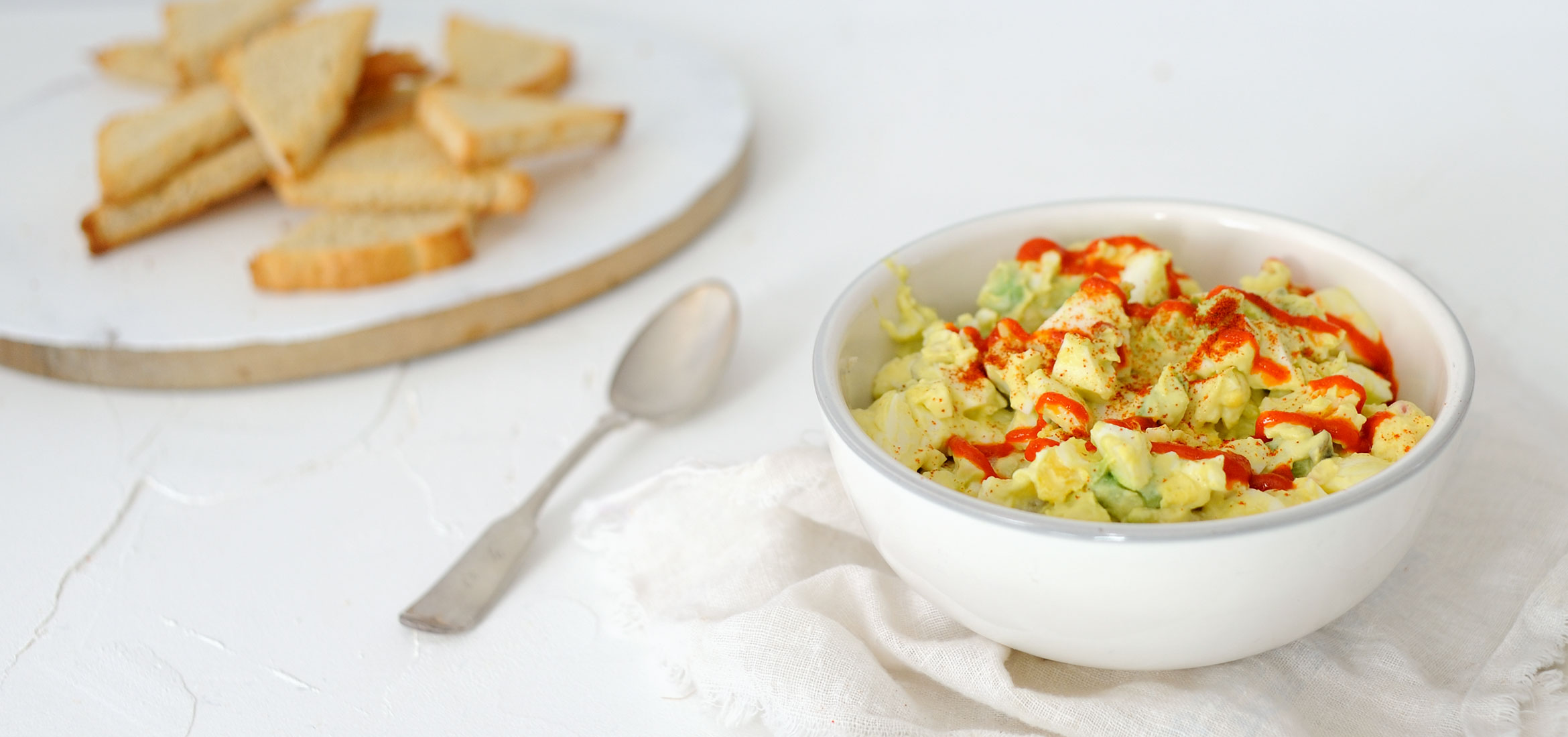 Spicy Avocado & Deviled Egg Dip