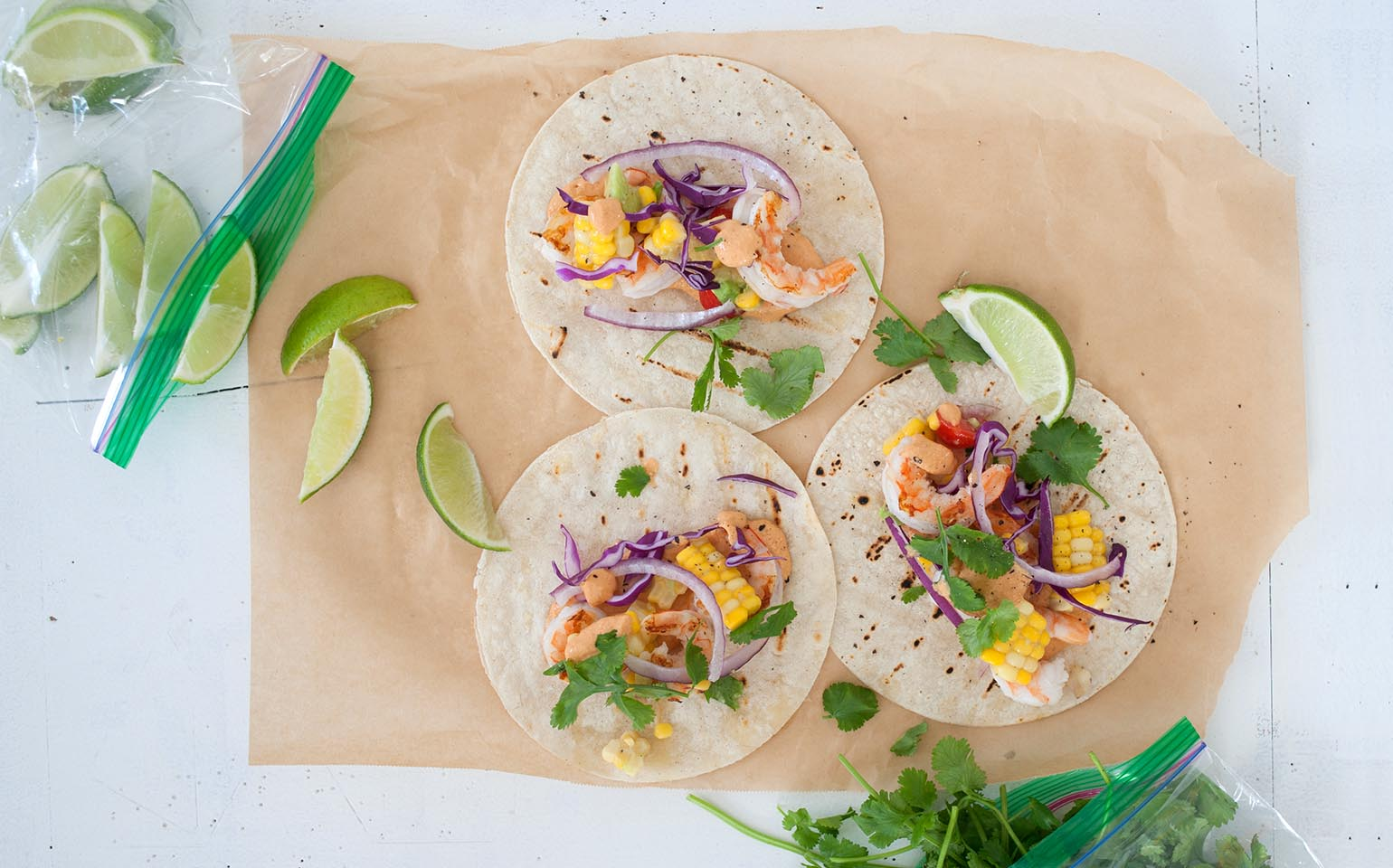 Tacos with Chipotle Greek Yogurt Sauce