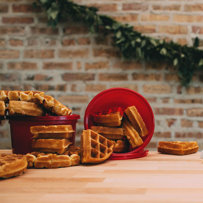 Sándwich de waffles para el desayuno