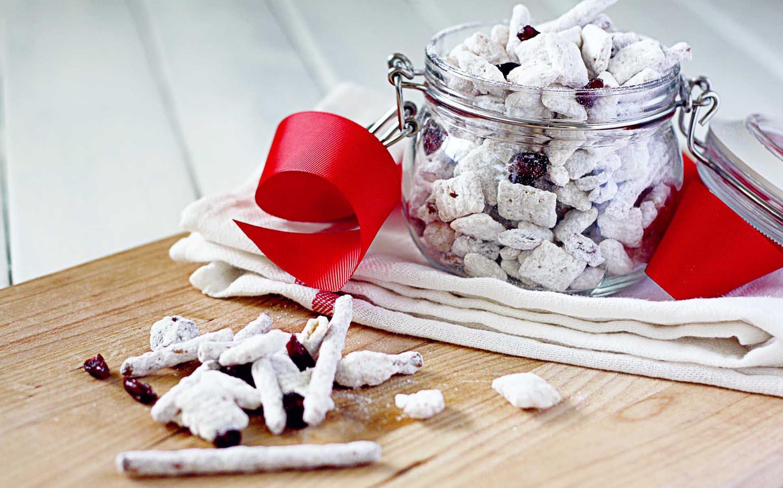 Comida de reno con chocolate blanco