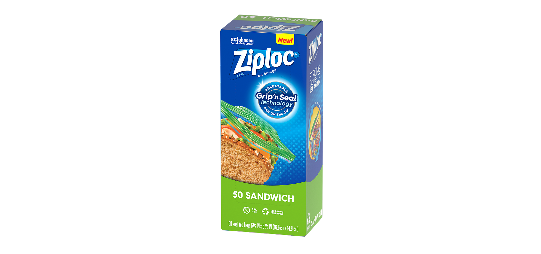 Grip n seal sandwich bag