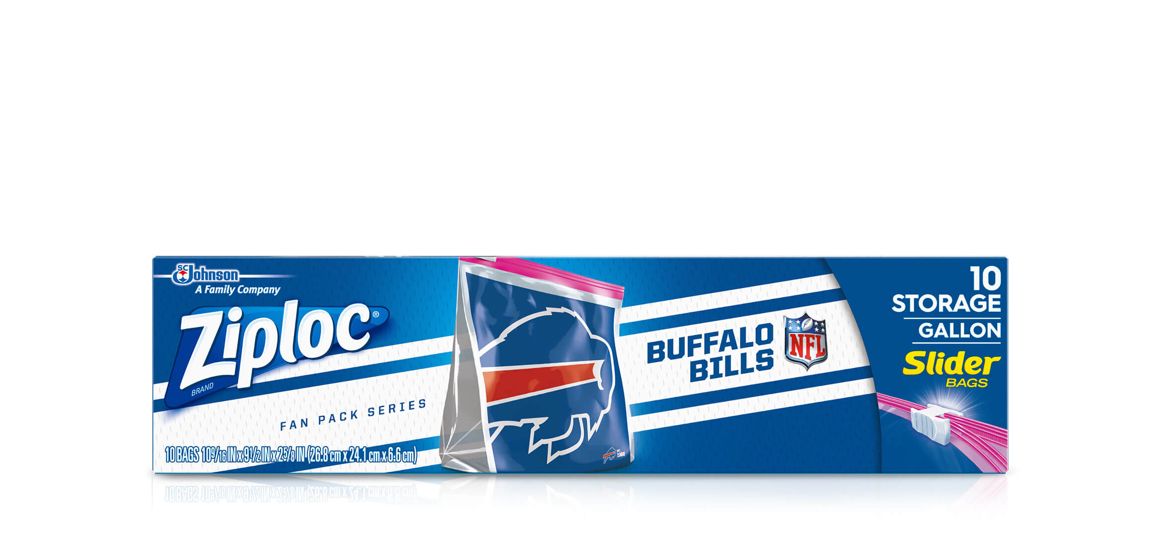 Ziploc Nfl Buffalo Bills Ziploc Brand Slider Storage