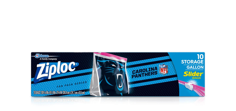 separation shoes 702c6 574f8 Ziploc® | NFL CAROLINA PANTHERS ZIPLOC® BRAND SLIDER STORAGE ...