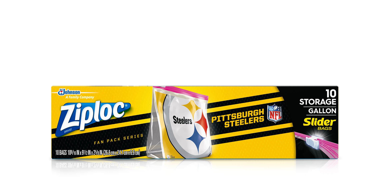 Ziploc®   NFL PITTSBURGH STEELERS ZIPLOC® BRAND SLIDER