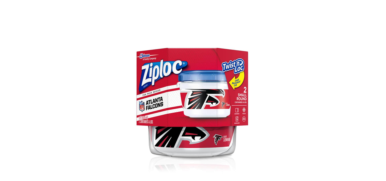 Ziploc 174 Nfl Atlanta Falcons Ziploc 174 Brand Twist N Loc