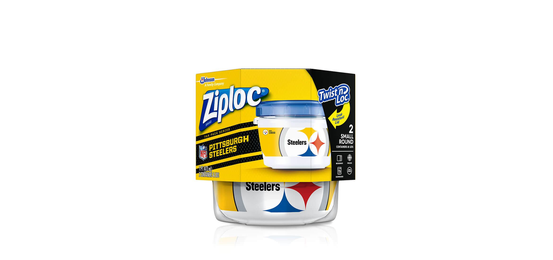 wholesale dealer b32ca 80a7b Ziploc®   NFL PITTSBURGH STEELERS ZIPLOC® BRAND TWIST 'N LOC ...