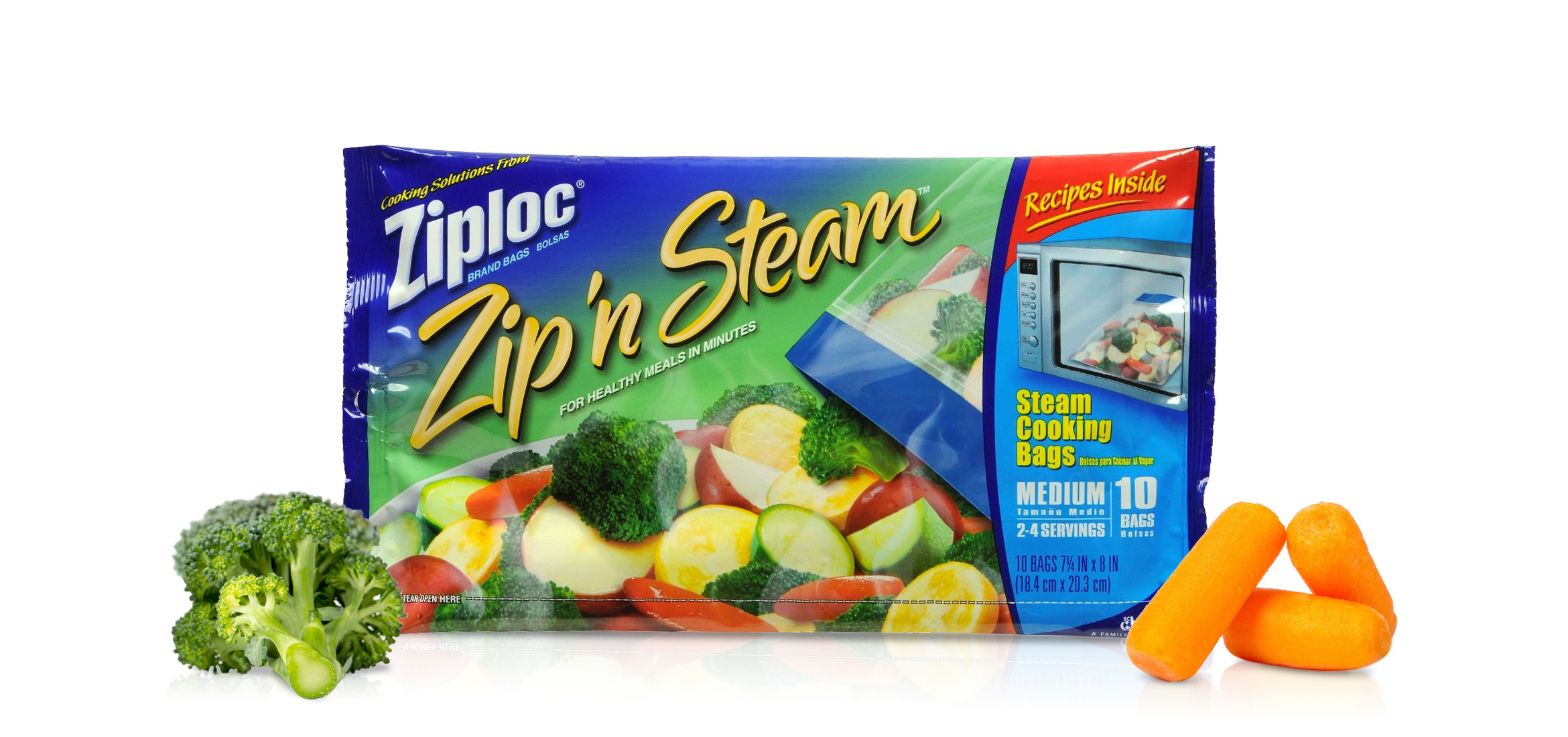 Ziploc Brand Zip N Steam Cooking Bags