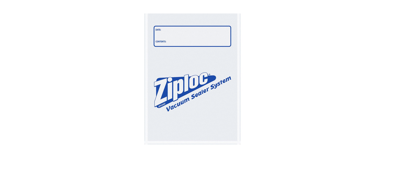 Bolsas de un cuarto de galón para sellado al vacío Ziploc®