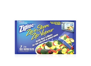 Ziploc ZipNSteam Bag