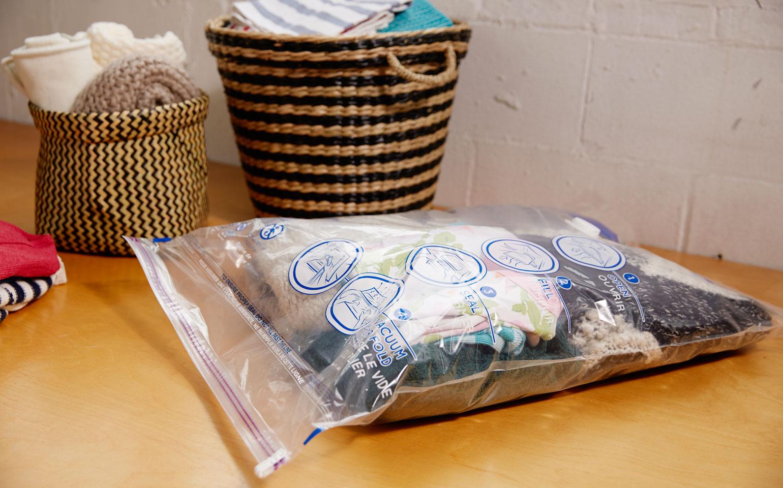 Paquet de 4sacs double usage Space Bag®: 2moyens, 2grands
