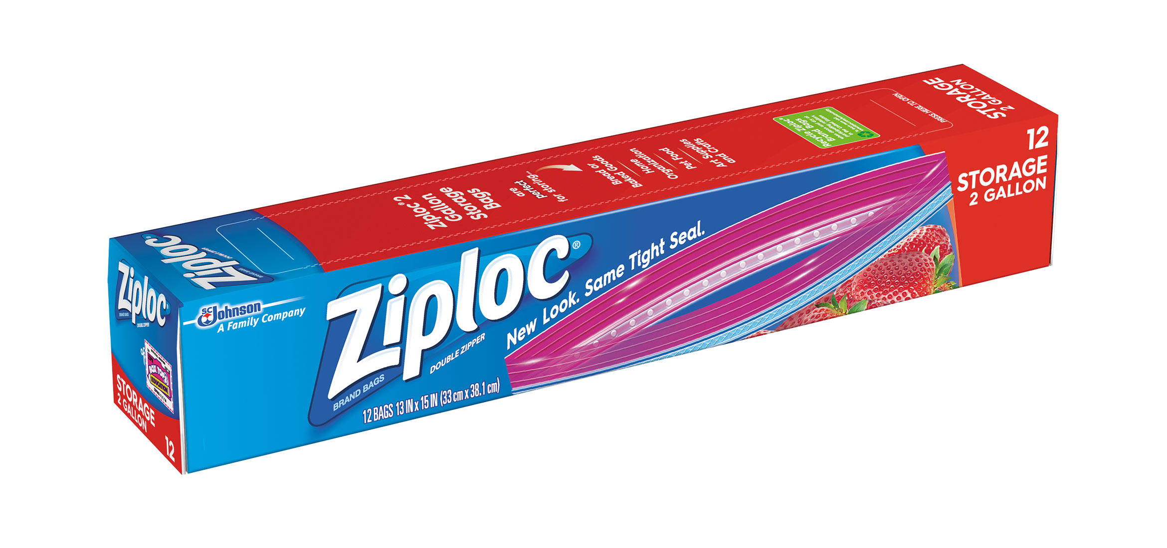 Ziploc Storage Bags Two Gallon Xl
