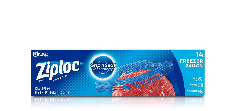 Ziploc 174 Freezer Bags Gallon Ziploc 174 Brand Sc Johnson