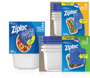 Ziploc® Twist 'n Loc® Containers 2 Medium Round, Ziploc® Containers & Lids Medium, Ziploc® Containers & Lids 3 Medium.